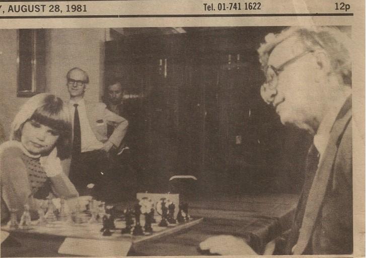 Televised chess match against Grandmaster Vasily Syslov