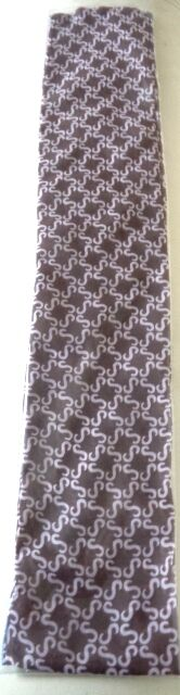 Brown and Pale Pink S Check Scarf