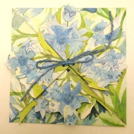 Bluebells Origami Folding Card