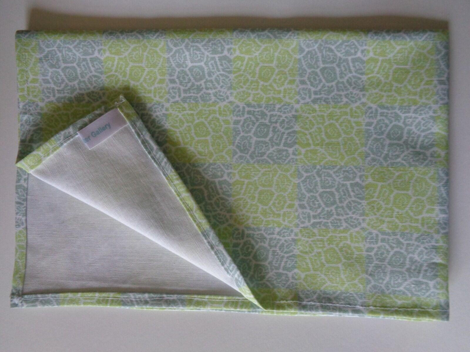 Cool Barnacle Check Tea Towel