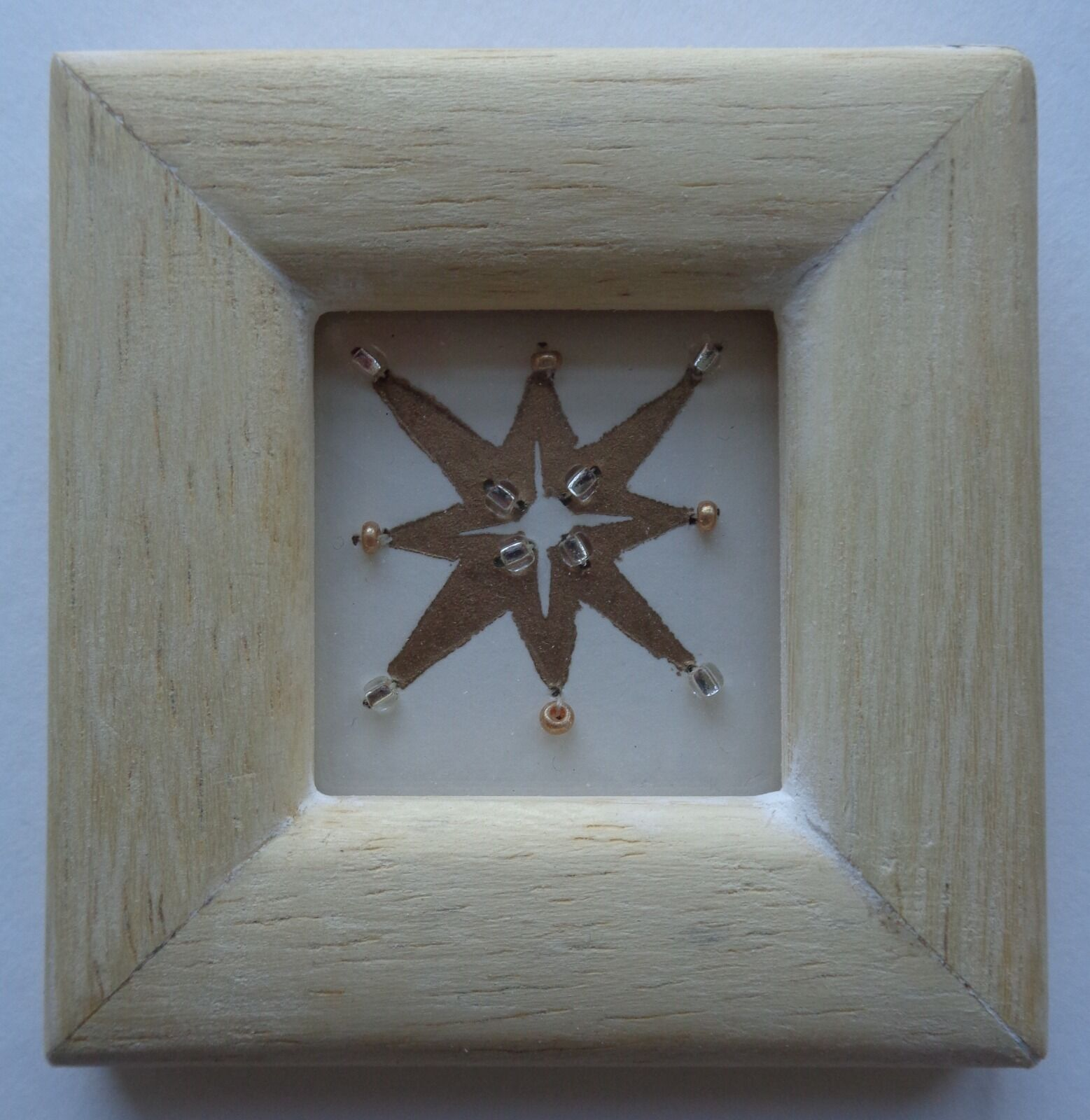 Beaded Linocut Star