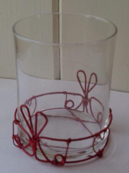 Vase/Votive Holder with Wirework Base
