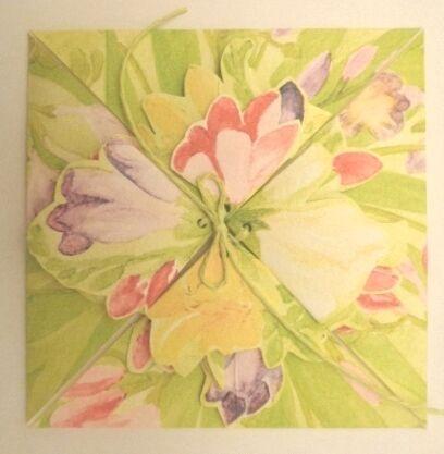 Fresia Origami Folding Card