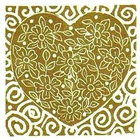 Gold & White Heart
