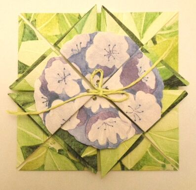 Rhododendron Origami Folding Card