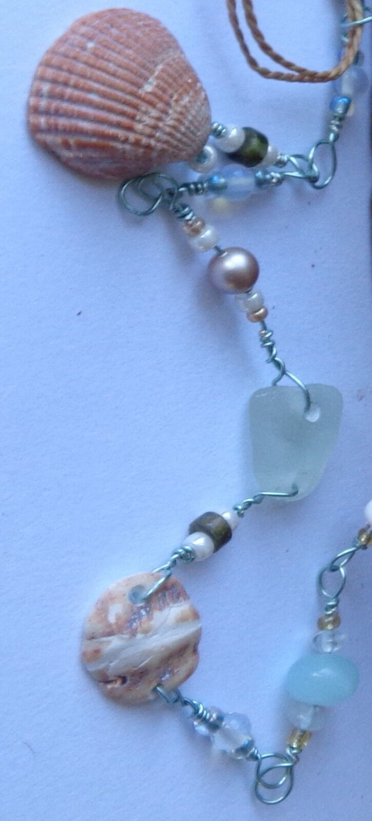 Shell & Sea Glass Necklace