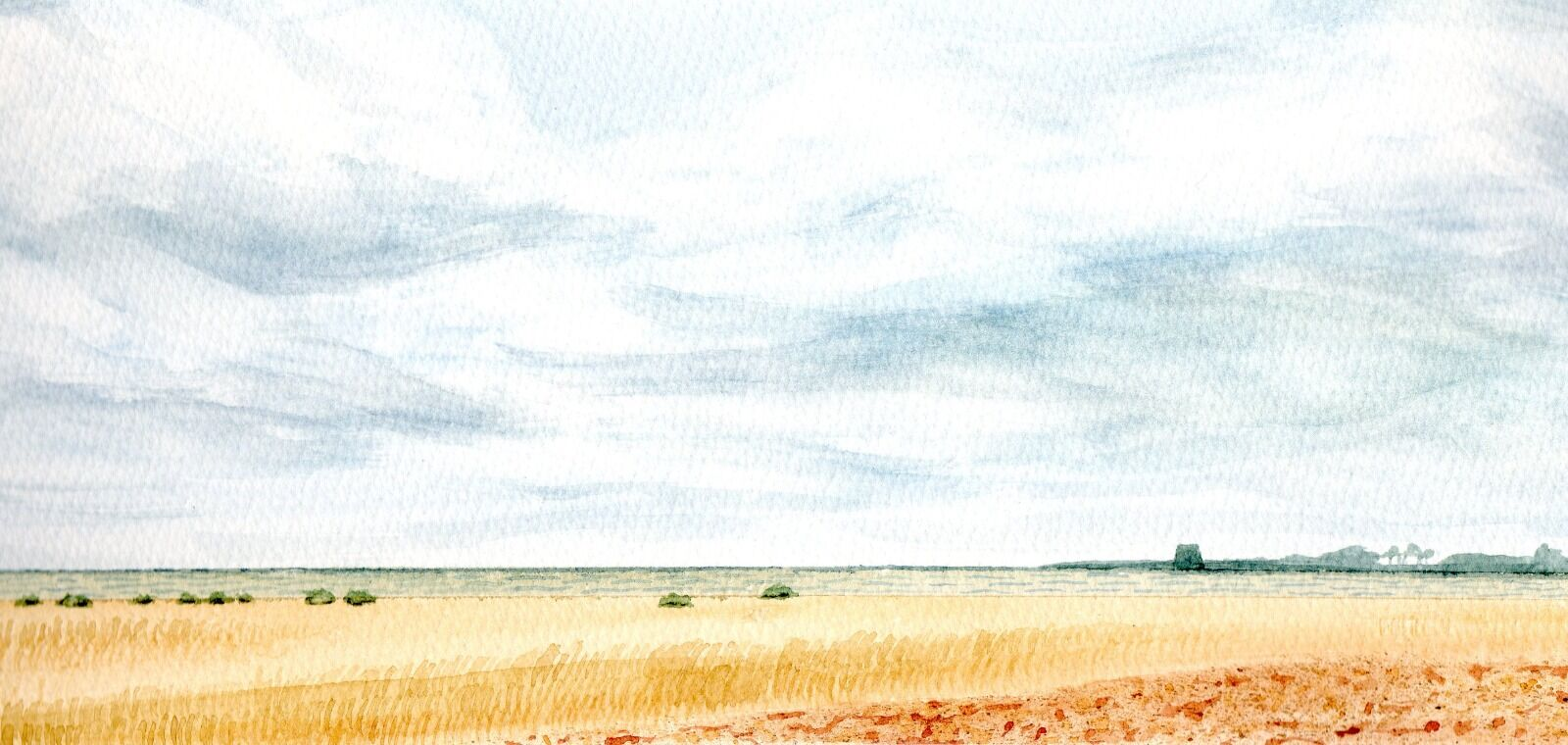 Shingle Street with Martello Tower