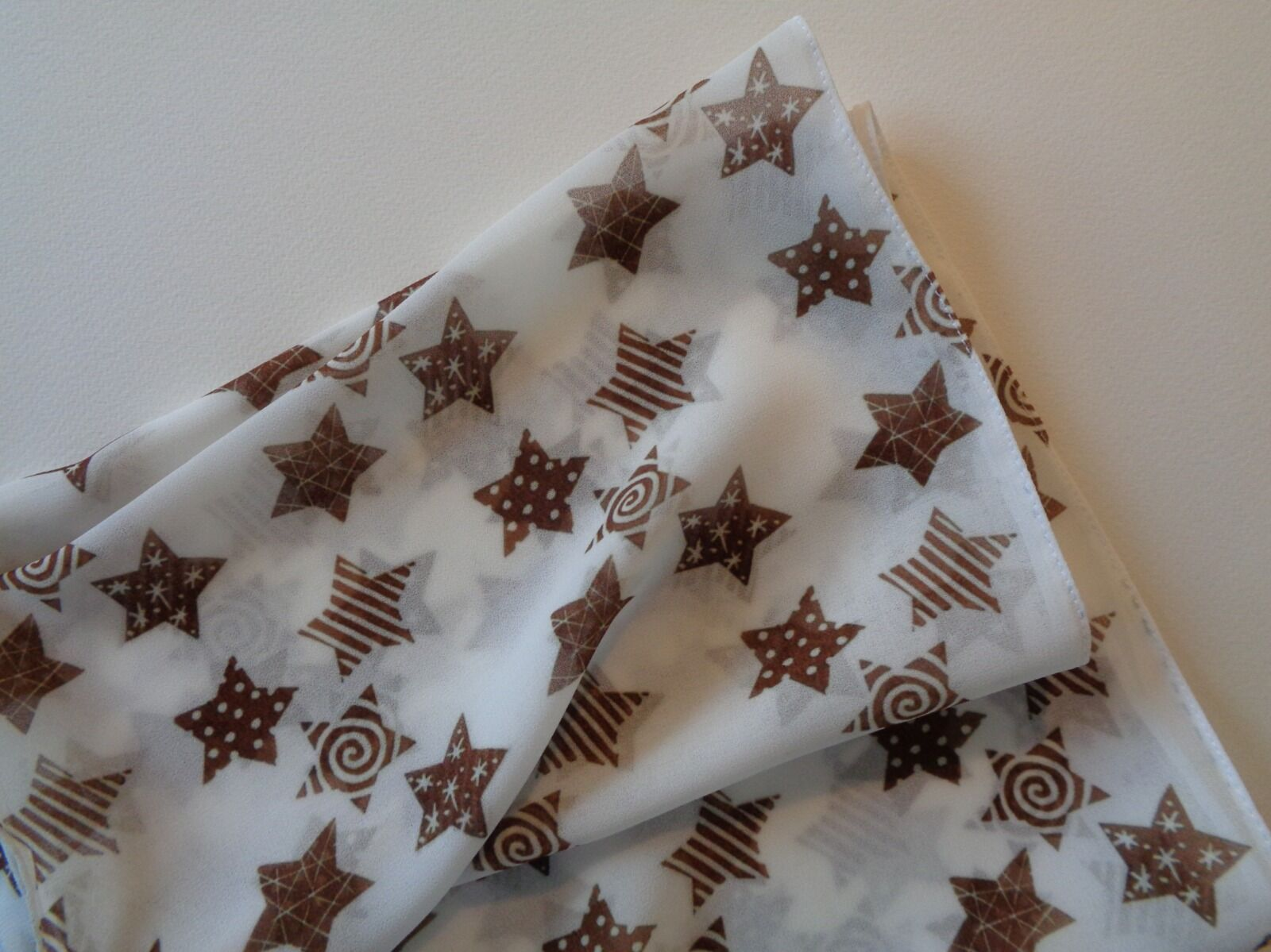 Small Gold Stars Georgette Scarf