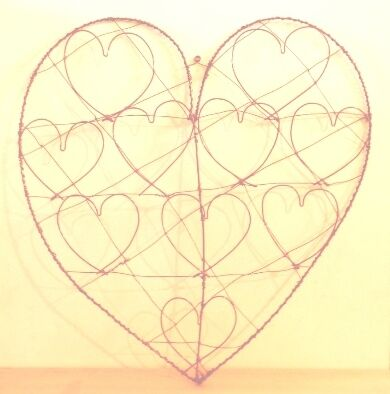 Wire Message Heart