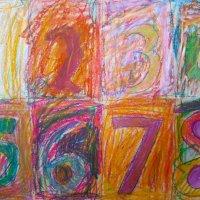 Jasper Johns Oil Pastel