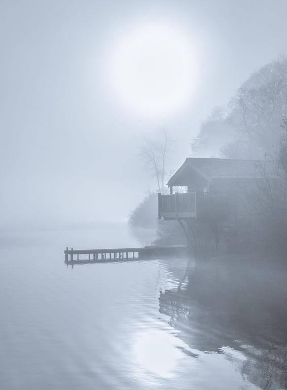 Fog and Boathouse.