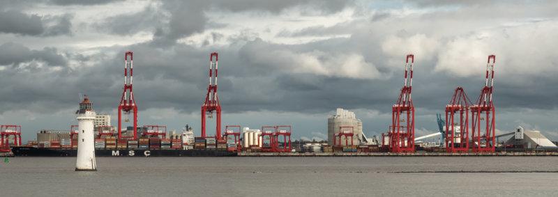 Dockside across the Mersey.