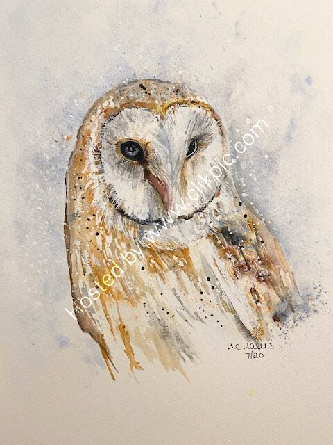 Wise Barn Owl card