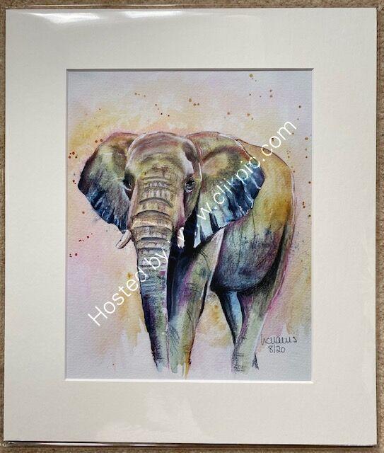 Elephant 1 mounted print