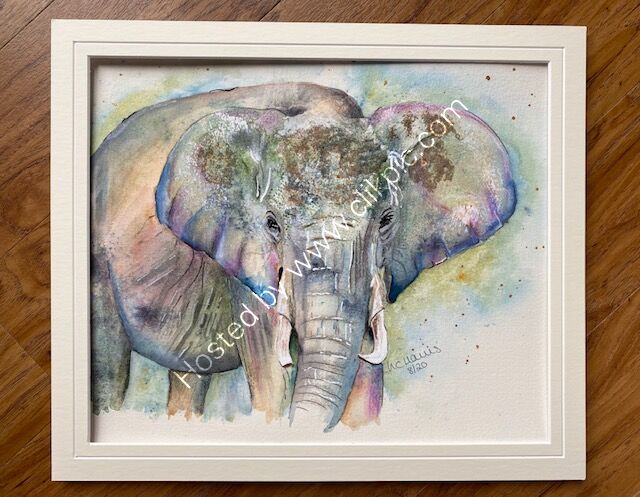 Elephant in Mixed Media