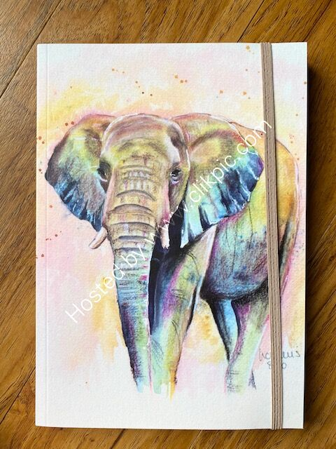 """A5 notebook """"Elephant 1"""""""