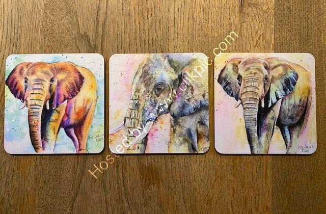 Choose 2 elephant coasters for £6.00