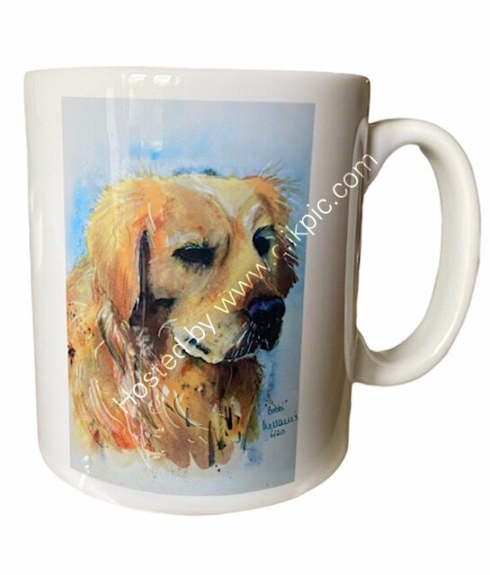 Golden Retriever earthenware mug