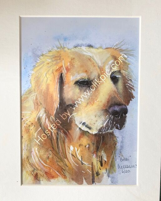"Golden Retriever 8"" x 10"" print"