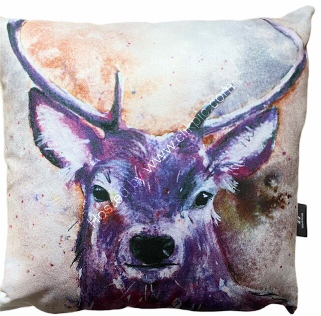 Majestic Stag Vegan Suede Cushion