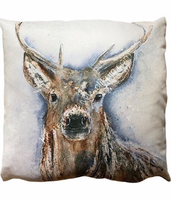 Natural Stag Vegan Suede Cushion
