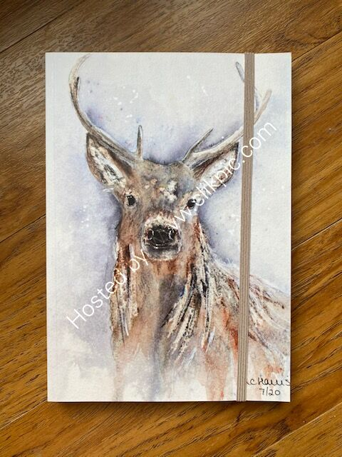 "A5 notebook ""Natural Stag"""
