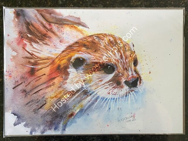 Otterly Amazing A3 Print