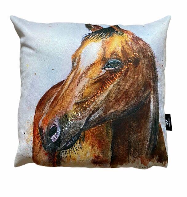 Quarter Horse Vegan Suede Cushion