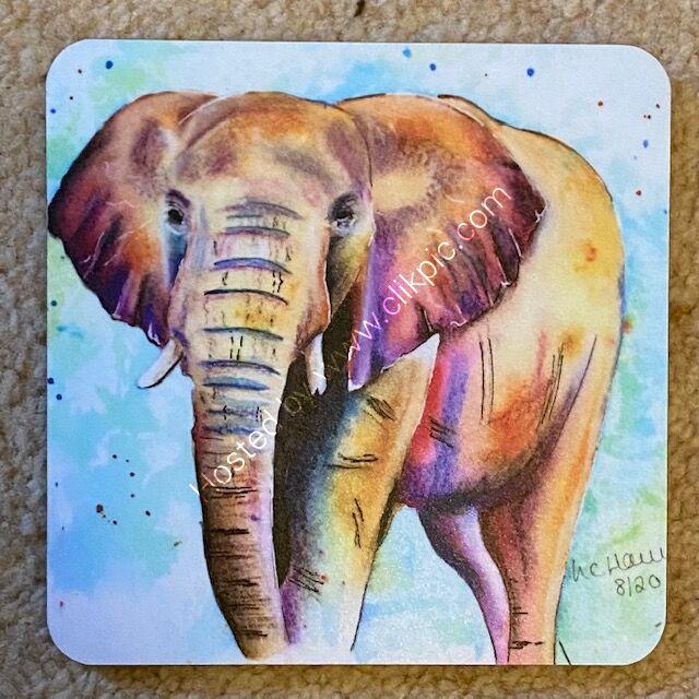 Single Sunglow elephant coaster £4
