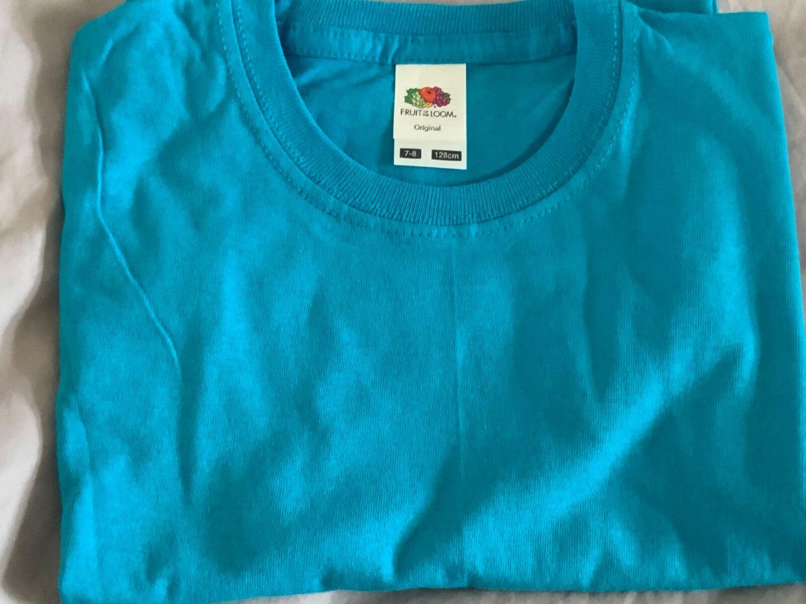 Azure blue  t-shirt 7/8