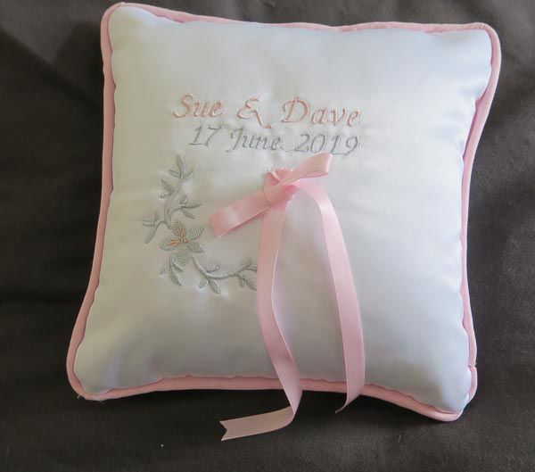 Personalised Ring Cushion