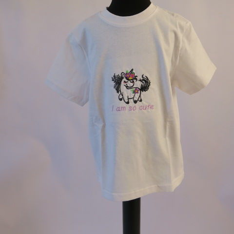 Child Tee shirt with Cute Unicorn design in White