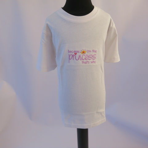 White Embroidered T-shirt for girl