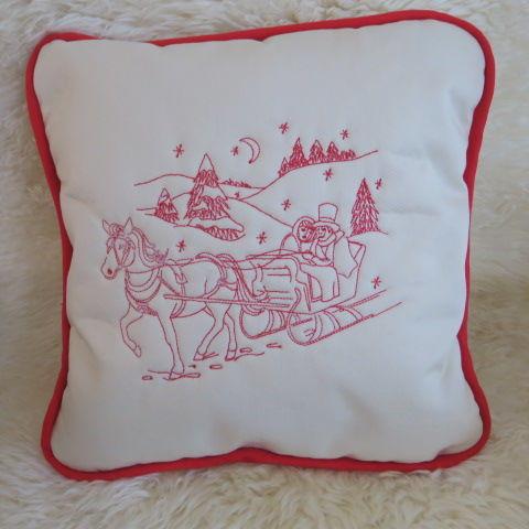 Christmas Cushion - Sleigh Ride