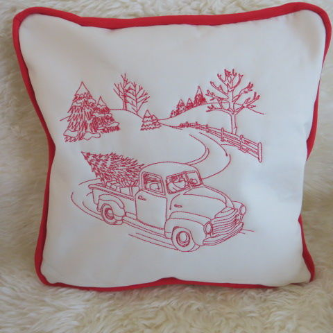 Christmas Cushion - Christmas Truck