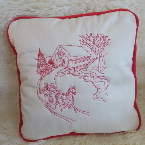 Christmas Cushion - Sleigh Ride 2