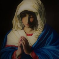 """The Virgin in Prayer"""