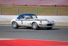 044 Carlos Monteverde & Gary Pearson Jaguar E Type FIA Masters Three Hours Espiritu de Montjuic Circuit de Barcelona small