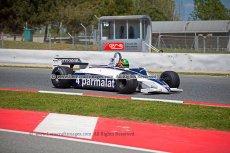 050 Joaquin Folch-Rusinol Brabham BT49C FIA Masters Historic Formula One Espiritu de Montjuic Circuit de Barcelona Catalunya small