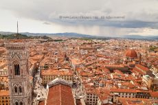Florence rooftops and Campanile di Giotto