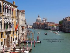 Sta Maria of Salute Basillica from Ponte dell'Accademia, Venice