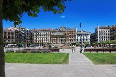 A Cloudy day, Plaza del Castillo, Pamplona