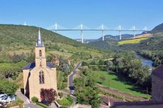 Millau Bridge from Pyre