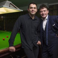 Ronnie O'Sullivan and Jimmy White for Eurosport