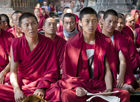 Monks at Bodh Gaya
