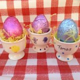 Egg cups £5.00 (without chocolate)