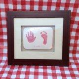 Framed clay imprint