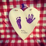 Heart clay imprint £35.00