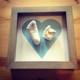 Hand and foot cast with heart mount - £75