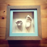 Square framed hand and foot cast - £75